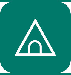 Tunnel road sign icon vector