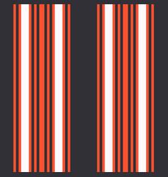 vertical black and orange stripes print vector image