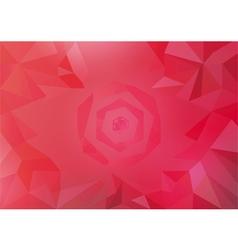 warm color tone polygonal vector image