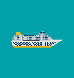 cruise ship isolated in flat style vector image