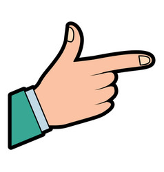 hand indicating or showing direction by pointing a vector image