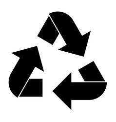 recycling arrows in a circle vector image vector image