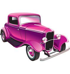 vintage muscle car vector image