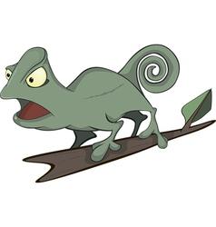 Big green Chameleon cartoon vector image vector image