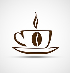icons to a cup of coffee vector image vector image