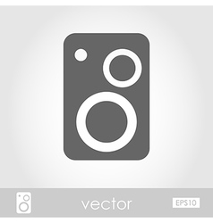 Music speakers icon vector image vector image
