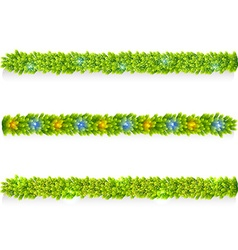 Set of Christmas garlands vector image