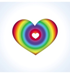 abstract heart in rainbow colors vector image vector image