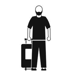 Arabic man icon simple style vector image