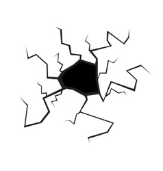 Black Hole or Crack in the Wall vector image