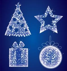 Christmas glow set vector image vector image
