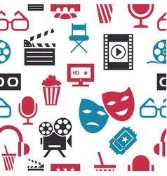 digital red white cinema vector image vector image