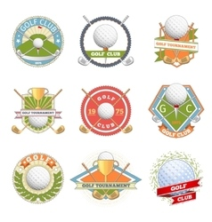 Golf club logo set vector image vector image