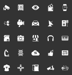 Hitechnology icons on gray background vector image vector image