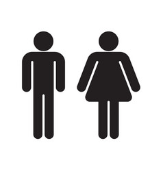 man and woman black silhouettes vector image vector image