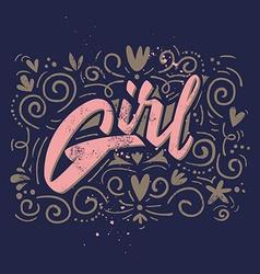 Print for womens shirts Girl vector image