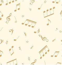 Seamless abstract pattern with music symbols vector image vector image