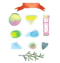 Watercolor design elements for sale vector image