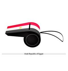 A Whistle of Arab Republic of Egypt vector image