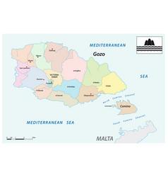 Administrative map gozo and comino malta vector