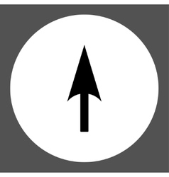 Arrow Axis Y flat black and white colors round vector