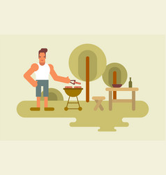 barbecue man vector image