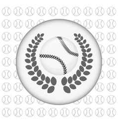 baseball ball wreath vector image