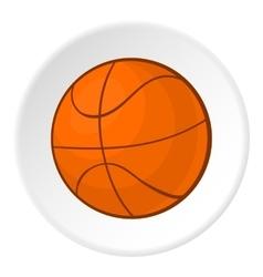 Basketball icon cartoon style vector