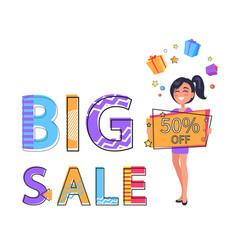 Big sale poster price off vector