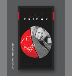 Black friday instagram post and stories vector