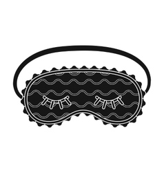 Blindfolds icon in black style isolated on white vector