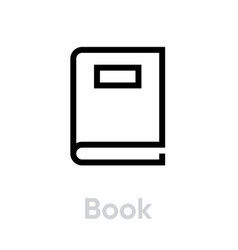 book flat icon editable stroke vector image