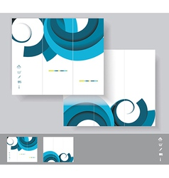Brochures with blue circles WT vector