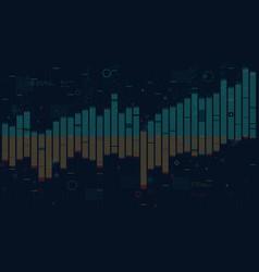 Business data columns bar chart slide analysis of vector