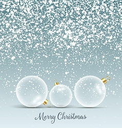 christmas baubles background 3009 vector image