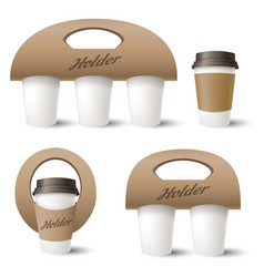 Coffee cup holder vector