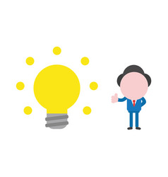 concept of faceless businessman character showing vector image