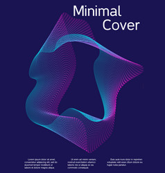 Cover design with abstract lines vector