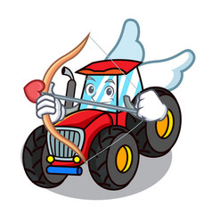 Cupid tractor character cartoon style vector