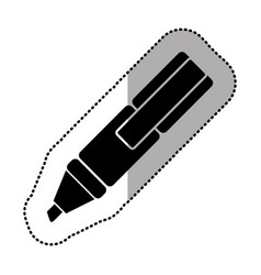 dark figure highlighter pen icon vector image