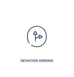 Deviation arrows concept 2 colored icon simple vector