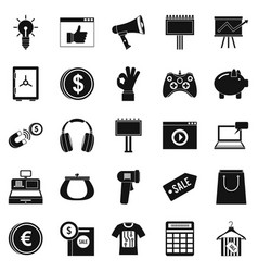 Digital distribution icons set simple style vector