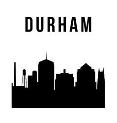 Durham city skyline simple silhouette modern vector