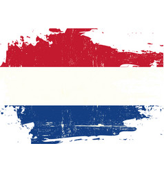 dutch scratched flag vector image