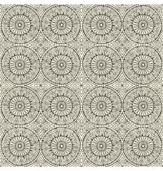 Ethnic modern hand drawn ornamental pattern vector