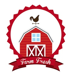 Farm fresh design vector