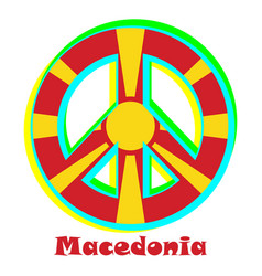 Flag of macedonia as a sign of pacifism vector