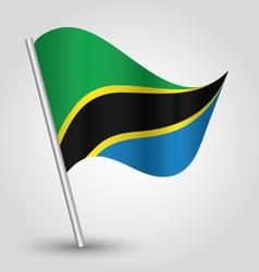 Flag tanzania vector