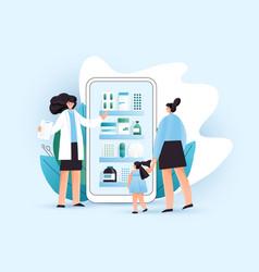 flat online pharmacy vector image