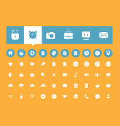 flat user interface icons set vector image